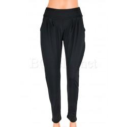 Дълъг памучен панталон ИНА - Черен