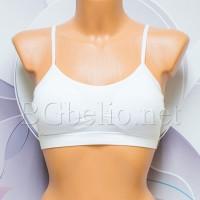 Бюстие с тънка презрамка - Бяло
